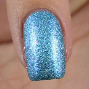 Image of If the Shoe Fits – a light blue linear holo with shimmer and chameleon iridescent flakes