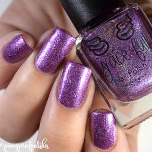 Image of Hair-o-ine - packed with lavender and pink shimmer in a purple orchid linear holo base