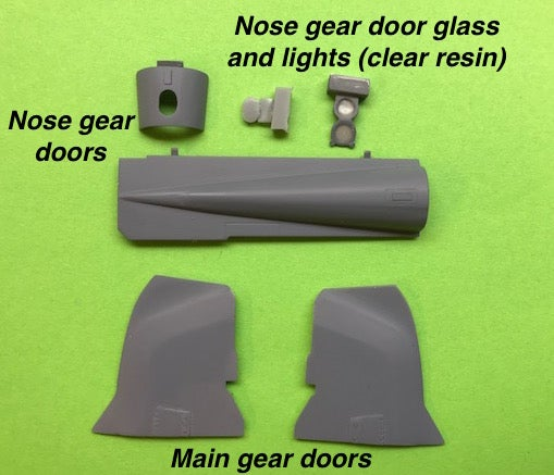 Image of Phantom undercarriage wheel door set for Revell Phantom