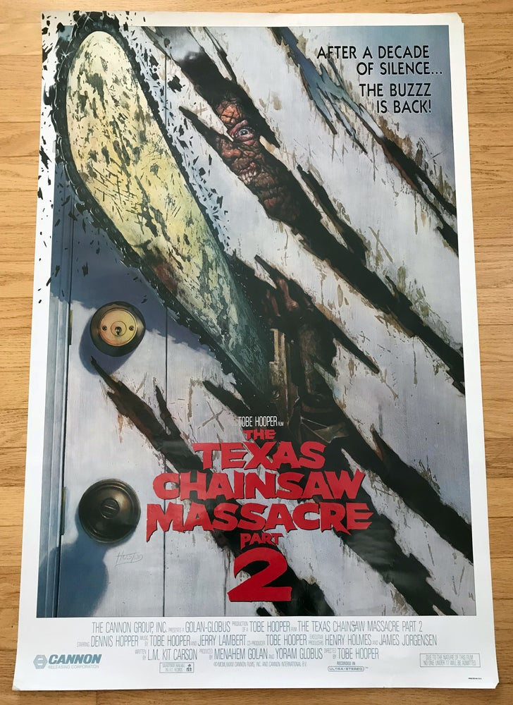 Image of 1986 THE TEXAS CHAINSAW MASSACRE PART II Original U.S. One Sheet Movie Poster