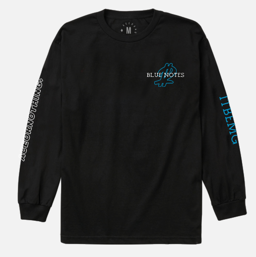 Image of Blue Notes 2 Black Long Sleeve