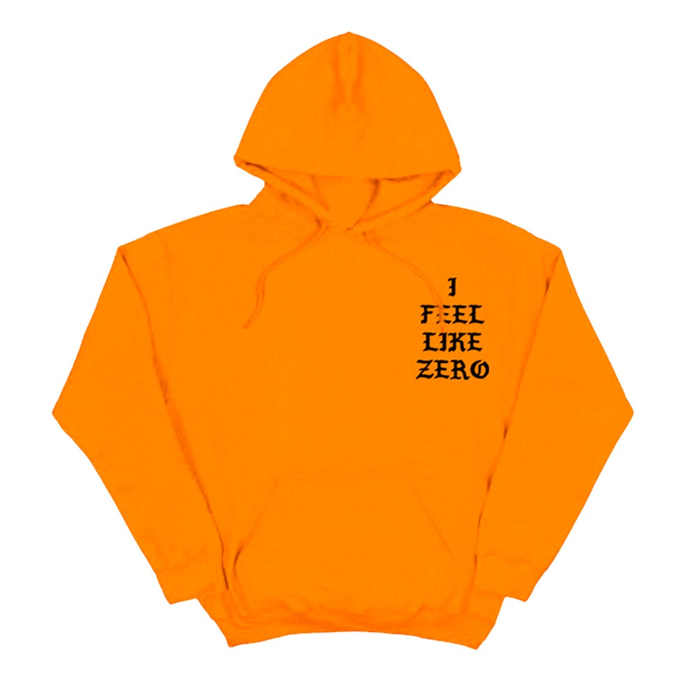 Image of SOLD OUT   BLK I FEEL LIKE ZERO DESSERT HOODIE   EXCLUSIVE RELEASE