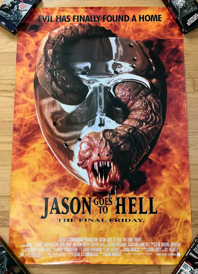Image of 1993 JASON GOES TO HELL Original U.S. Double Sided U.S. One Sheet Movie Poster