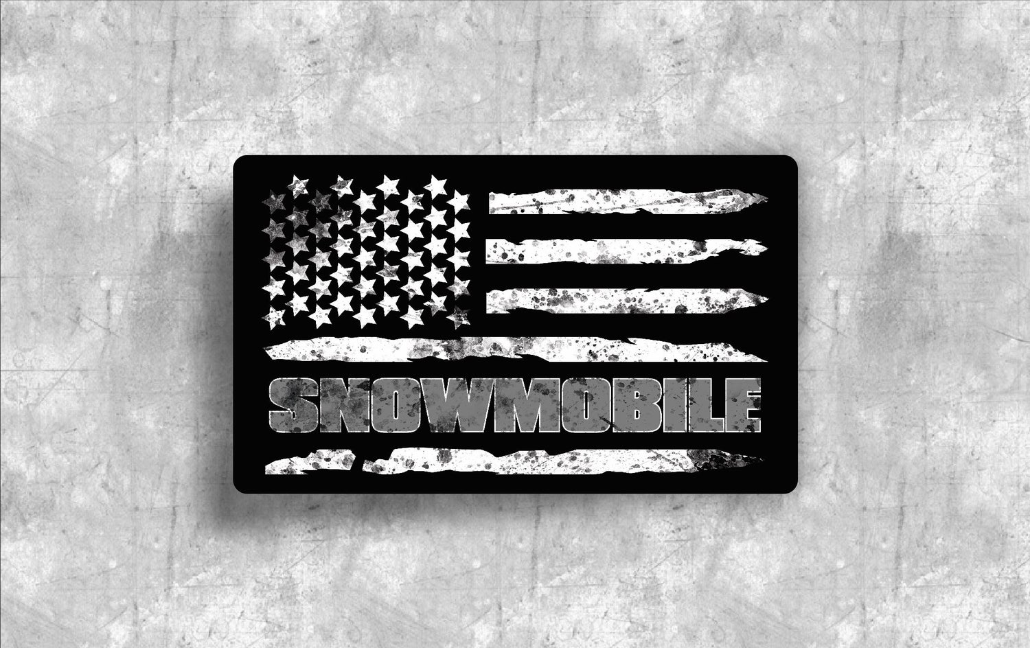 Image of AMERICAN FLAG SNOWMOBILE DECAL