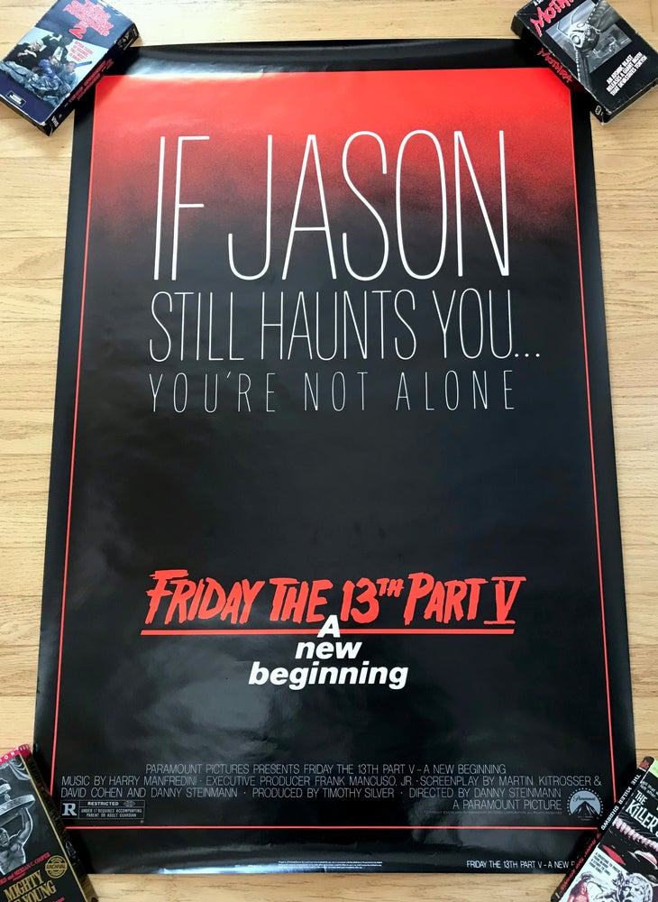 Image of 1985 FRIDAY THE 13TH PART V: A NEW BEGINNING Original U.S. One Sheet Movie Poster