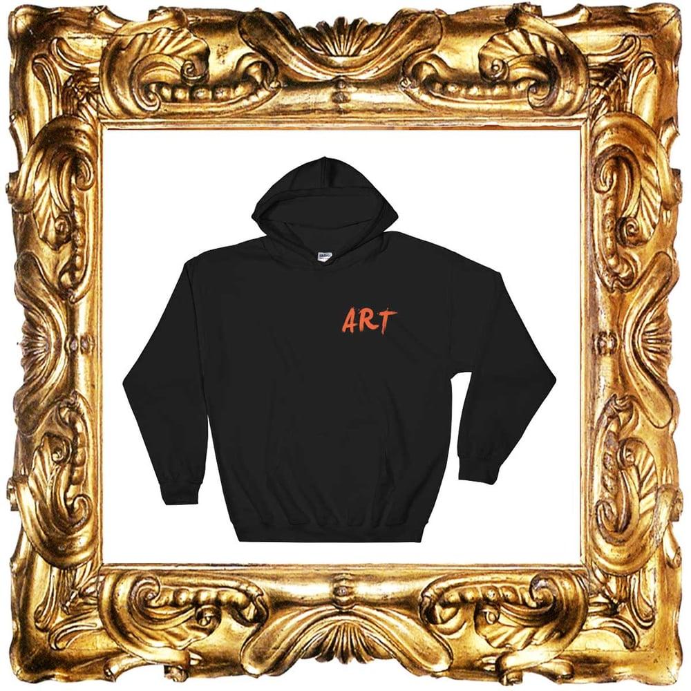Image of BLACK ART HOODIES