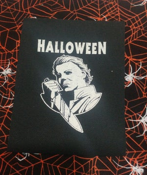 Image of Pick 1 patch - halloween Michael Myers, Large Freddy Jason Ash face