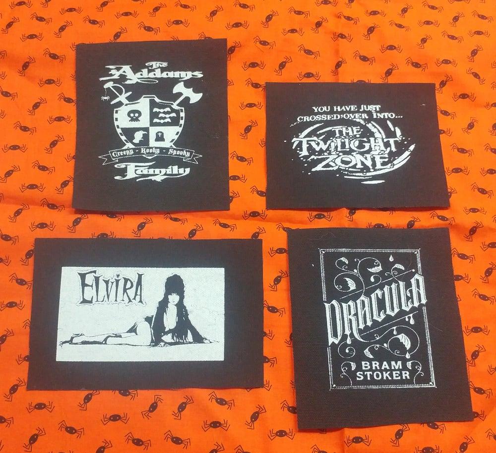 Image of Pick 1 patch - Twilight Zone, Elvira, Dracula, Addams Family