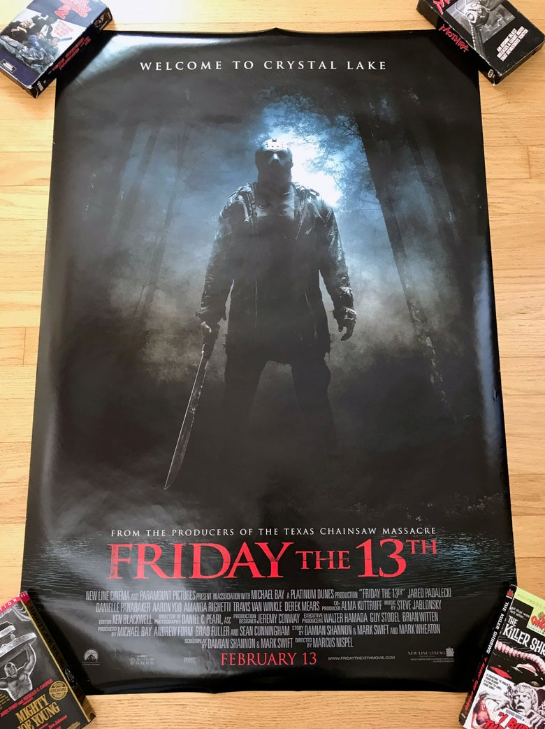 Image of 2009 FRIDAY THE 13TH Original Double Sided U.S. One Sheet Movie Poster