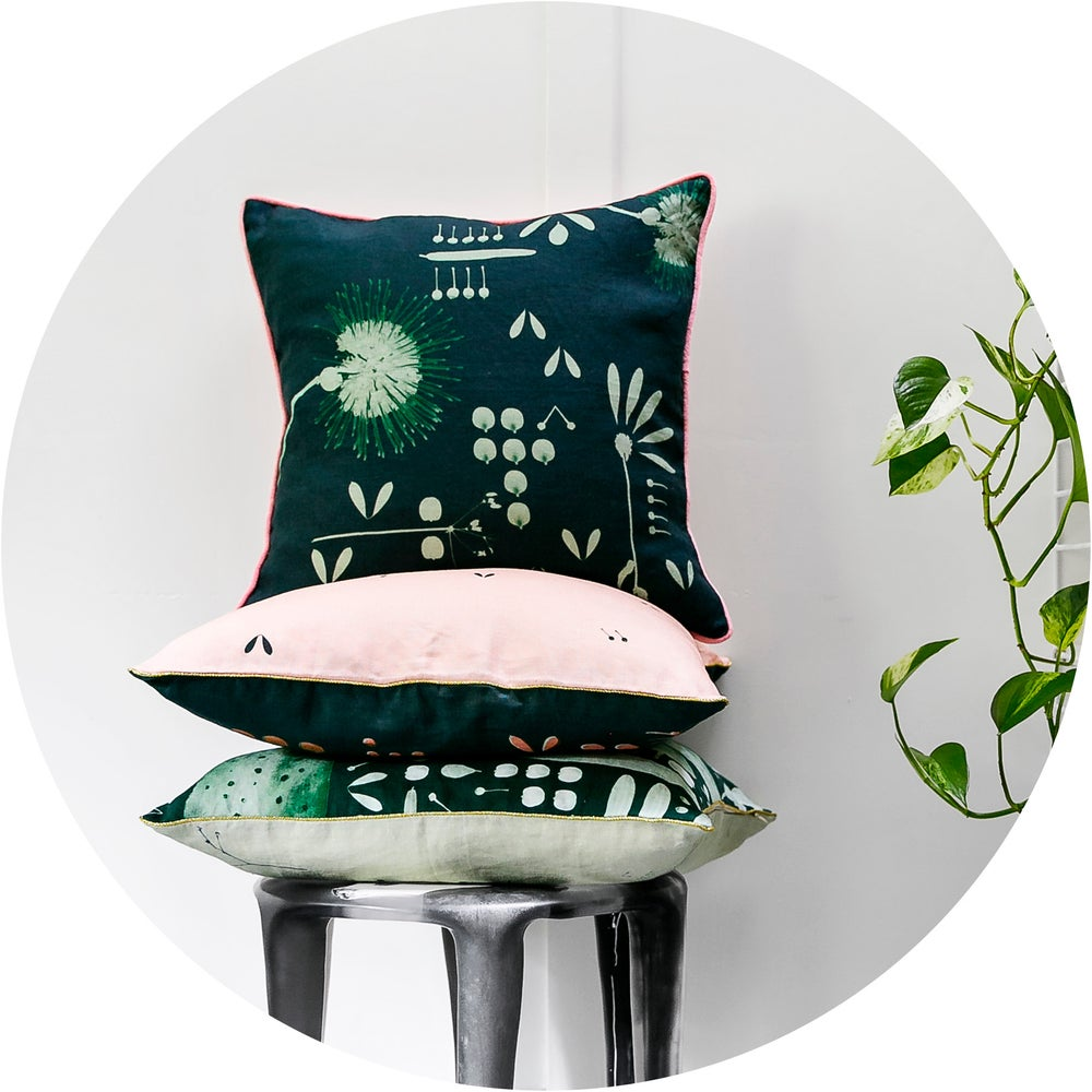 Image of Moonlight Hakea Linen Cushion Cover