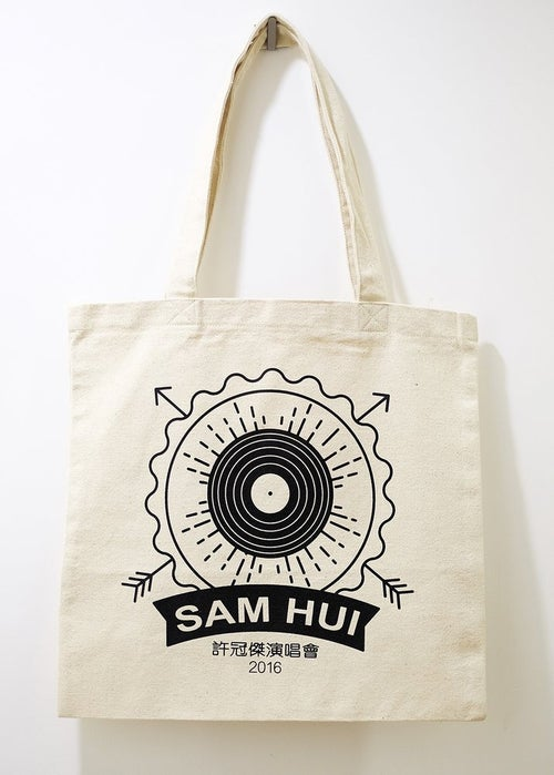 "Image of SAM HUI ""VINYL"" TOTE BAG (2016)"
