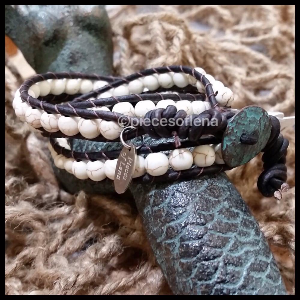 Image of Triple Wrap Bracelet - Howlite