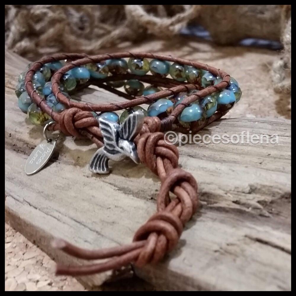 Image of Double Wrap Bracelet - Blue Bird