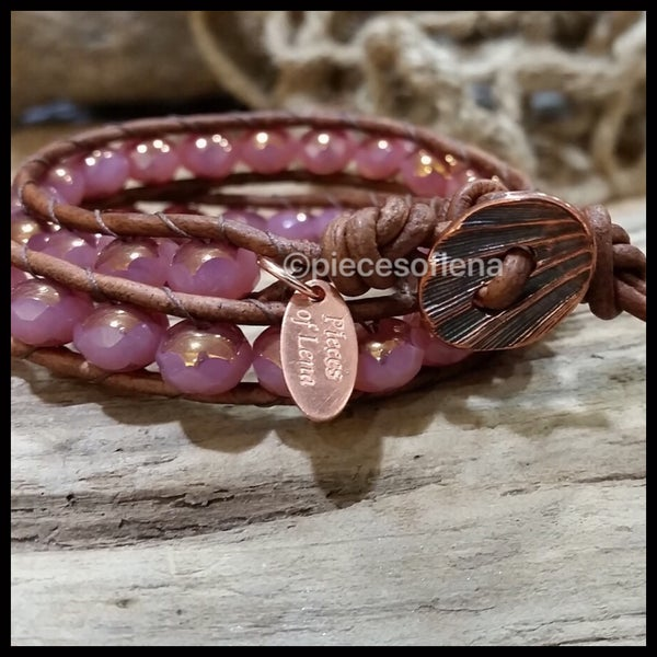 Image of Double Wrap - Rose Gold Copper