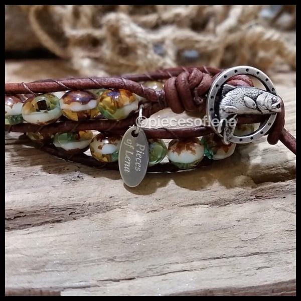 Image of Double Wrap Bracelet - Fish