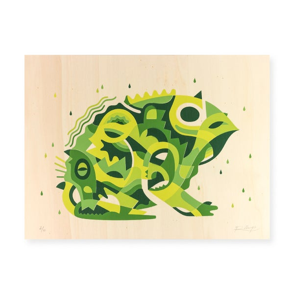 Image of Frog stencil - 40 x 30 cm