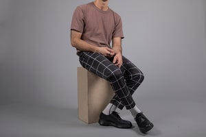 Image of Cropped Skinny Grid Pants I