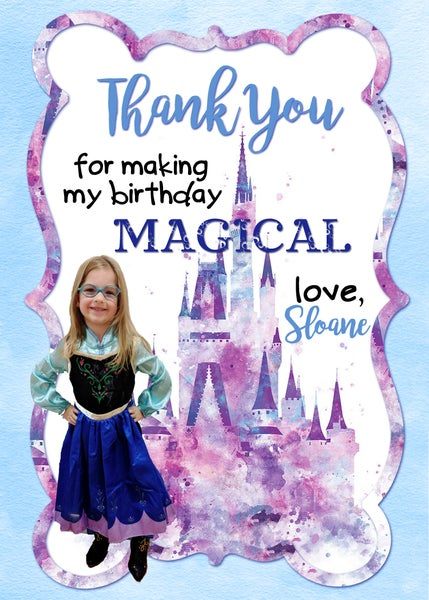 Image of Princess Birthday Thank You Cards