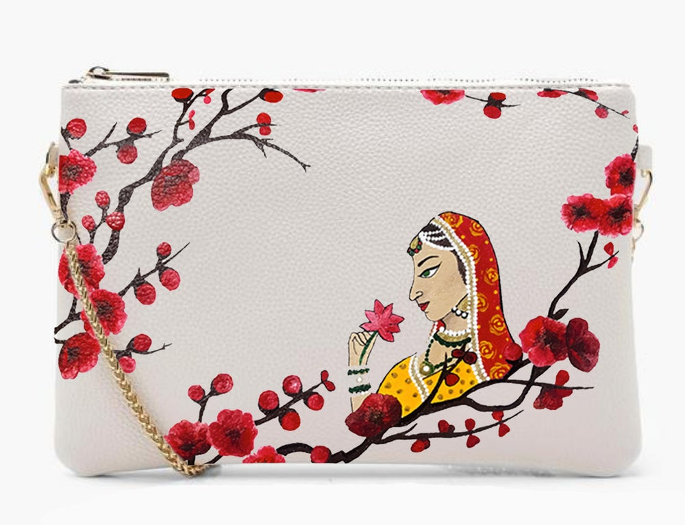 Image of HAND PAINTED - Maharani Blossom Bag.