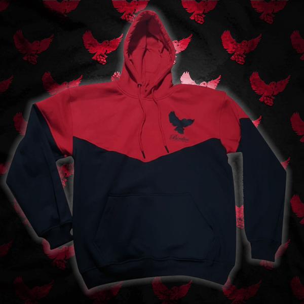 Image of Black/Red Cut & Sew Birdies Hoodie