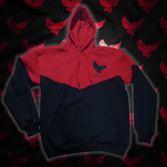 Image of Black/Red Cut & Sew Birdies Hoodie