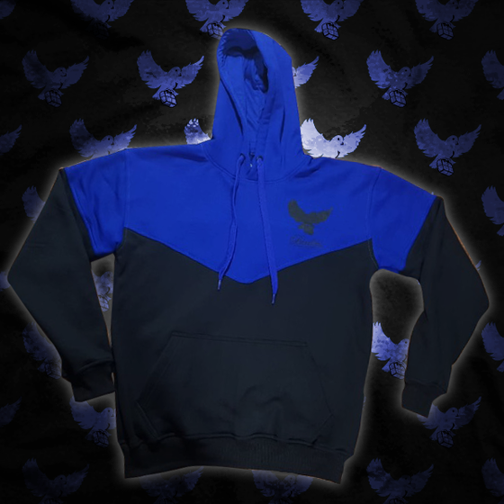 Image of Black/Blue Cut & Sew Birdies Hoodie
