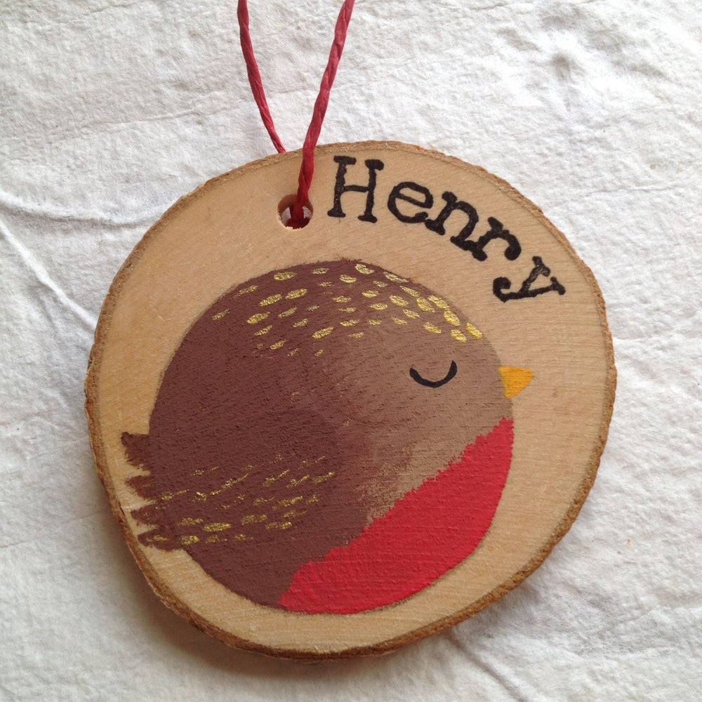 Image of Personalised Robin Decorations - Pre-Orders