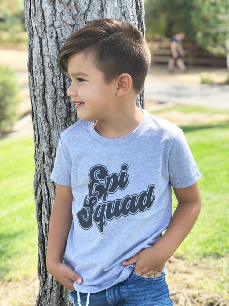 Image of Epi Squad Athletic Heather Grey Tee