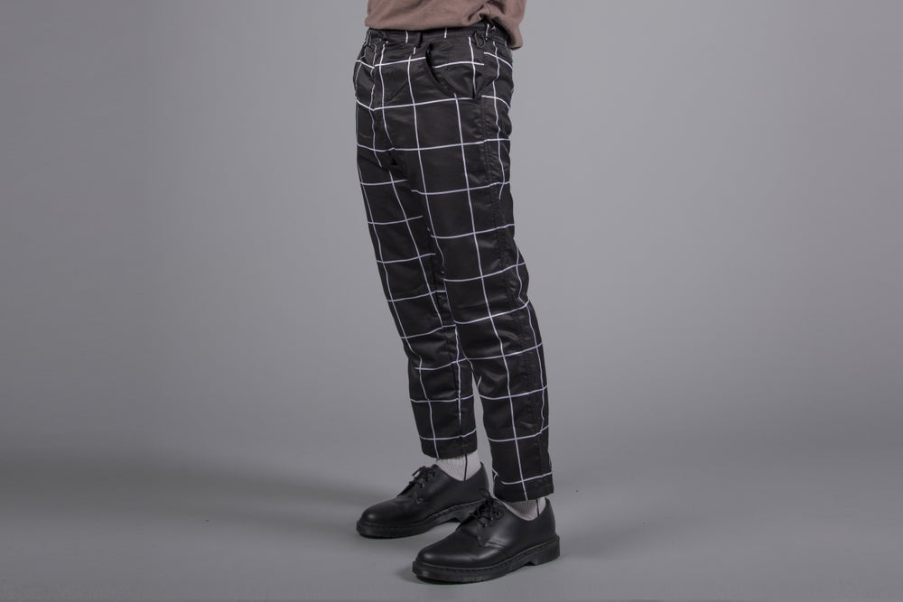 Image of Cropped Skinny Grid Pants
