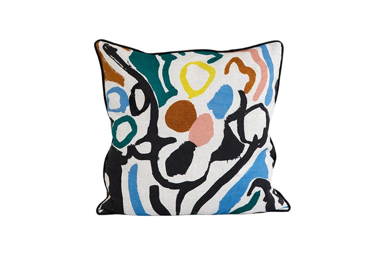 Image of 'Cove' Cushion Blue- Land Collection
