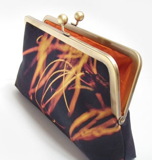 Image of Fiery flower clutch bag