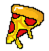 Image of Pixel Pizza Sticker!!