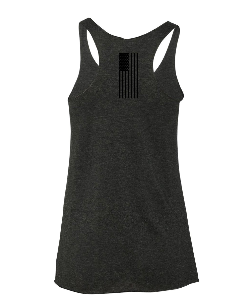 "Image of LIMITED EDITION: ""X"" Blacked Out Racer Back Tank"