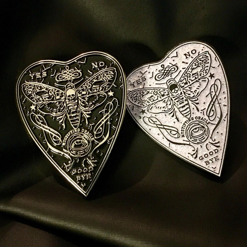 Image of Mystifying Oracle Planchette Enamel Pin ~ BACK IN STOCK