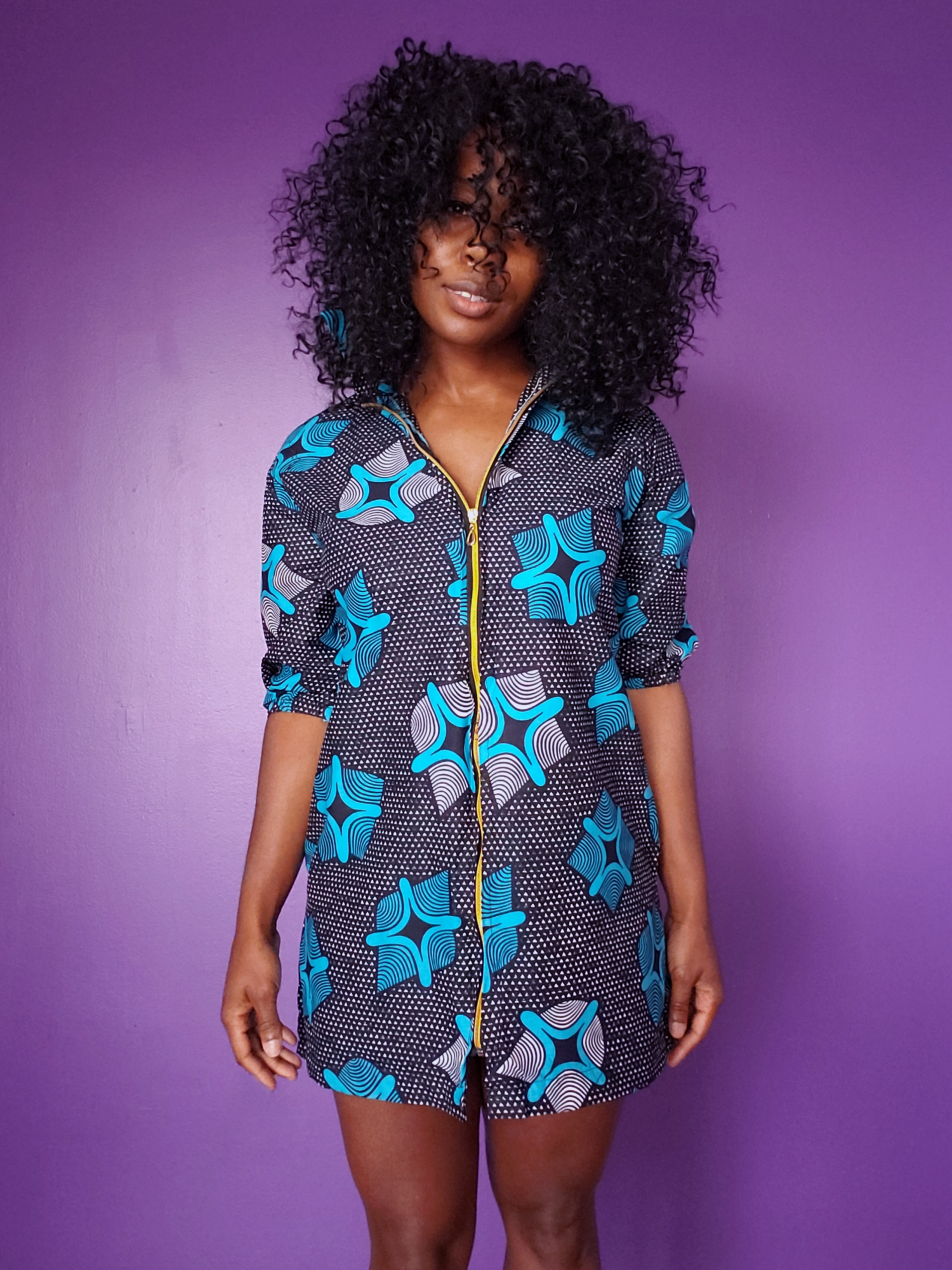 Image of Jojo Navy Shirt Dress Tunic