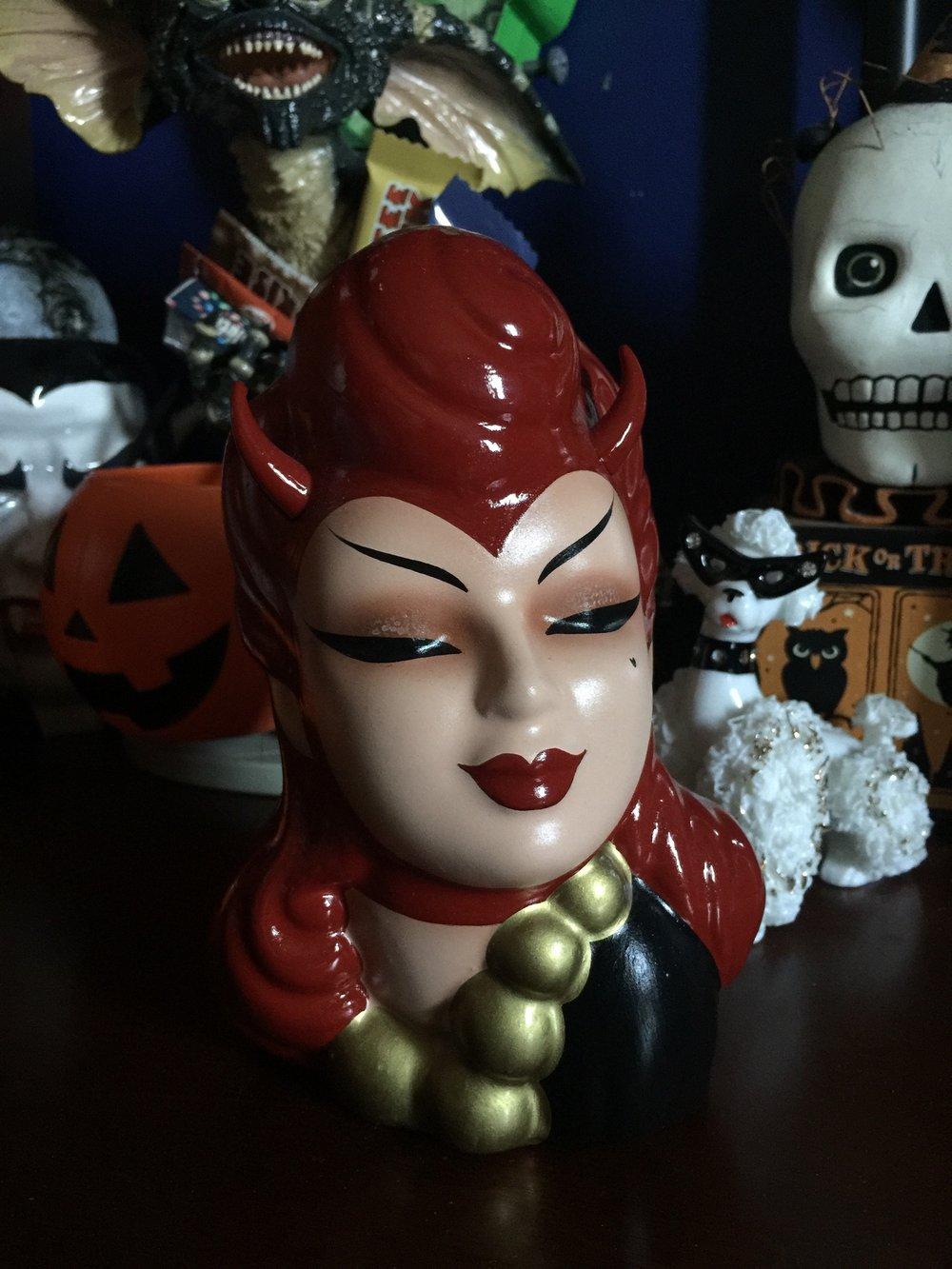 Image of Vintage Revamped Devil Head Vase