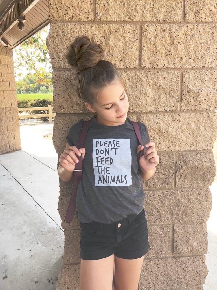Image of Animals Dark Grey Heather Tee