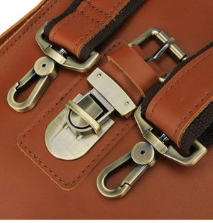 Image of Rio Leather Messenger Bag