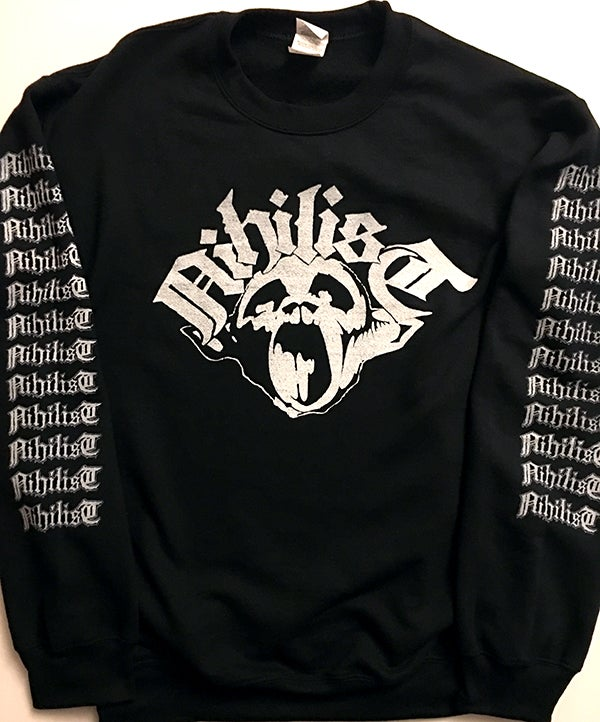 Image of Nihilist - Sweatshirt with Sleeve prints