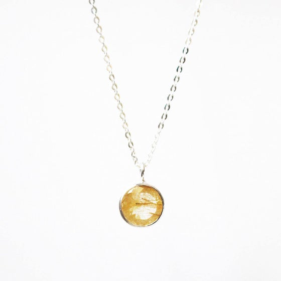 Image of Golden Rutilated Quartz necklace