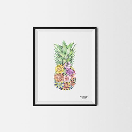 Image of Floral Pineapple Print - BUY ONE GET ONE FREE!!!