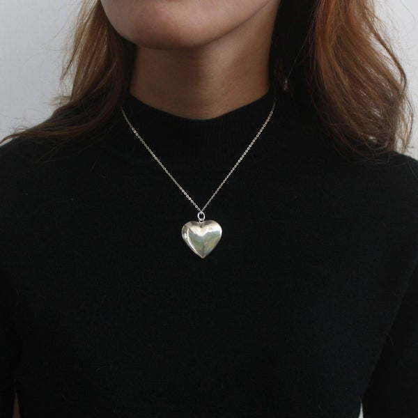 Image of Silver Locker Heart necklace