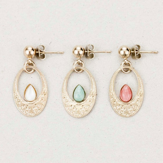 "Image of Boucles d'oreilles / Earrings  ""Tiv, goddess of the moon light"""