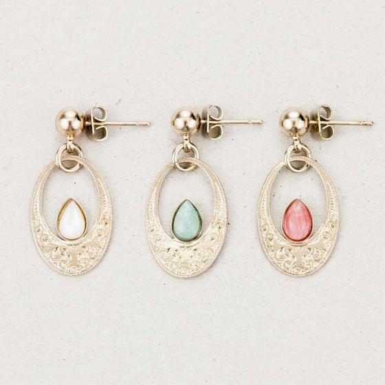 "Image of Boucles d'oreilles / Earrings  ""Tiv, goddess of the moon light"""