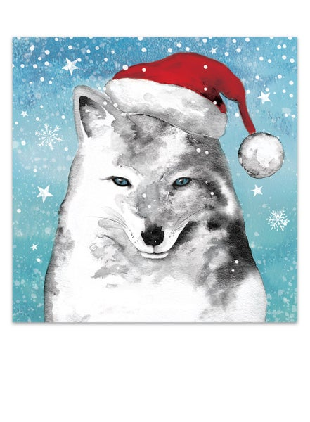 Image of Arctic Fox, Christmas Card