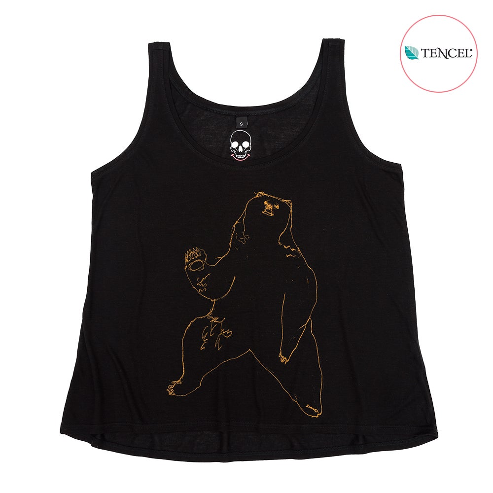 Image of Bear Black Girls Tank (Tencel)