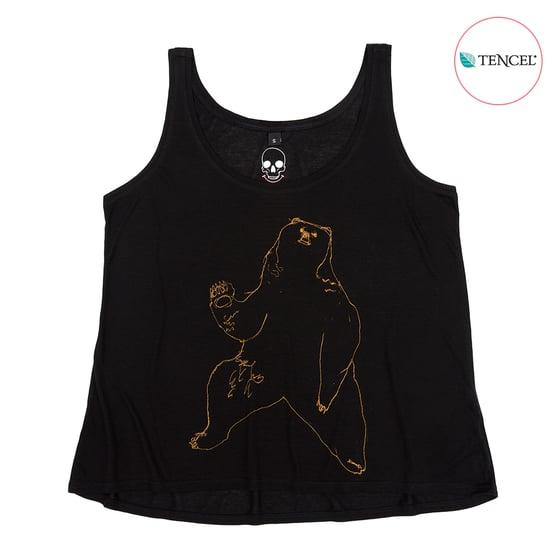 Image of Bear Black Girls Tank (Tencel)