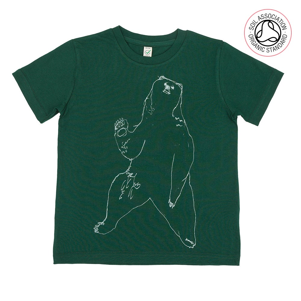 Image of Bear Green Kids-T (Organic)