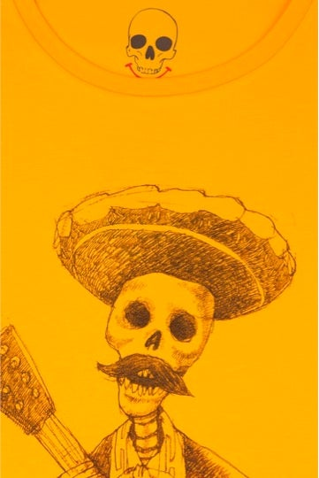 Day of the Dead Girls Gold Roll Sleeve T-Shirt (Organic)
