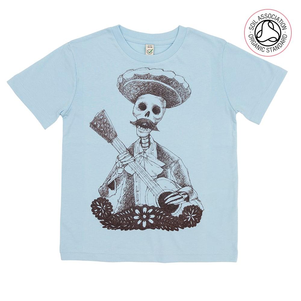 Day of the Dead Light Blue Kids-T (Organic)